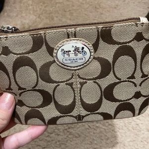 Small Coach wristlet in great condition